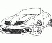 Coloriage et dessins gratuit Mercedes SLS cabriolet à imprimer