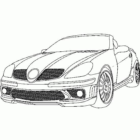 Coloriage et dessins gratuits Mercedes SLS cabriolet à imprimer