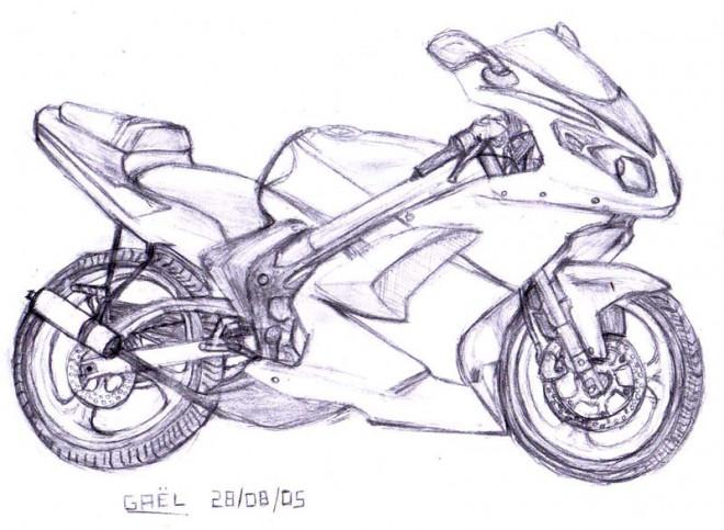 Coloriage et dessins gratuits Moto Tuning à imprimer