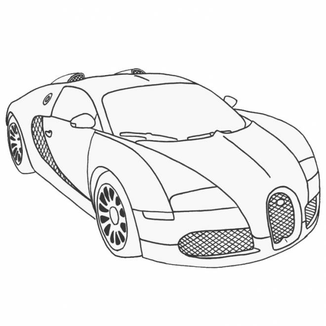 Coloriage et dessins gratuits superbe auto de course Maybach à imprimer