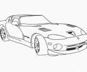 Coloriage et dessins gratuit Viper voiture de Luxe à imprimer