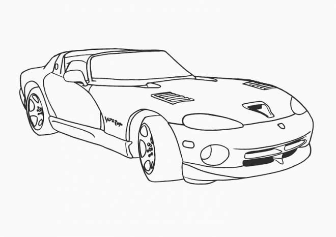 Coloriage et dessins gratuits Viper voiture de Luxe à imprimer