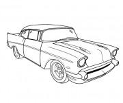 Coloriage et dessins gratuit Voiture Chevrolet classique à imprimer