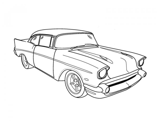 Coloriage et dessins gratuits Voiture Chevrolet classique à imprimer