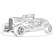 Coloriage et dessins gratuit Voiture classique cabriolet à imprimer