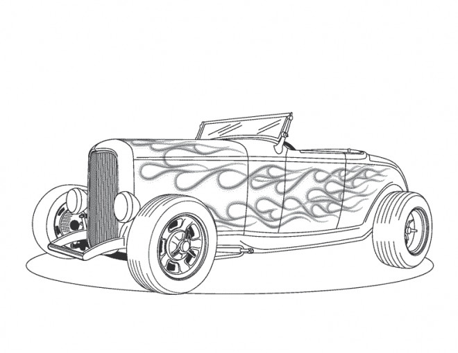Coloriage voiture classique cabriolet dessin gratuit imprimer - Cars a colorier et a imprimer ...