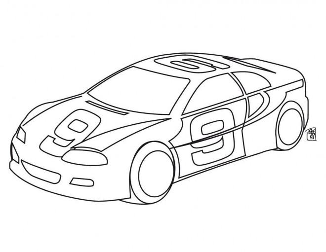 Coloriage et dessins gratuits Voiture de course Nascar à imprimer