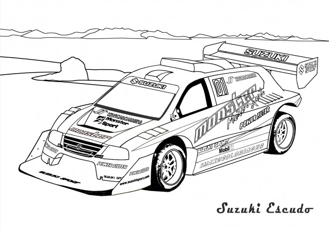 Coloriage voiture de rallye dessin gratuit imprimer - Coloriage la cars ...