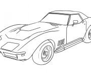 Coloriage et dessins gratuit Voiture de sport Ferrari à imprimer