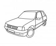 Coloriage et dessins gratuit Voiture Peugeot 205 à imprimer
