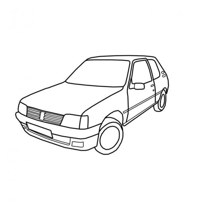 Coloriage voiture peugeot 205 dessin gratuit imprimer - Dessin a colorier de voiture ...