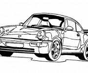 Coloriage et dessins gratuit Voiture Porsche coupé à imprimer