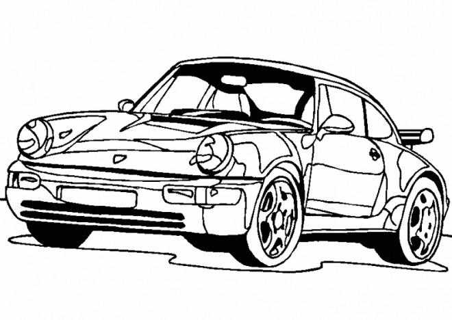Coloriage et dessins gratuits Voiture Porsche coupé à imprimer