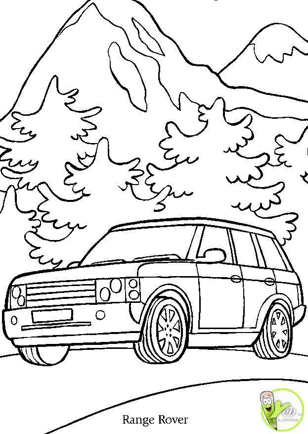 Coloriage et dessins gratuits Voiture Range Rover à imprimer