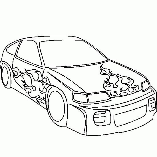 Coloriage et dessins gratuits Voiture Tuning à colorier à imprimer