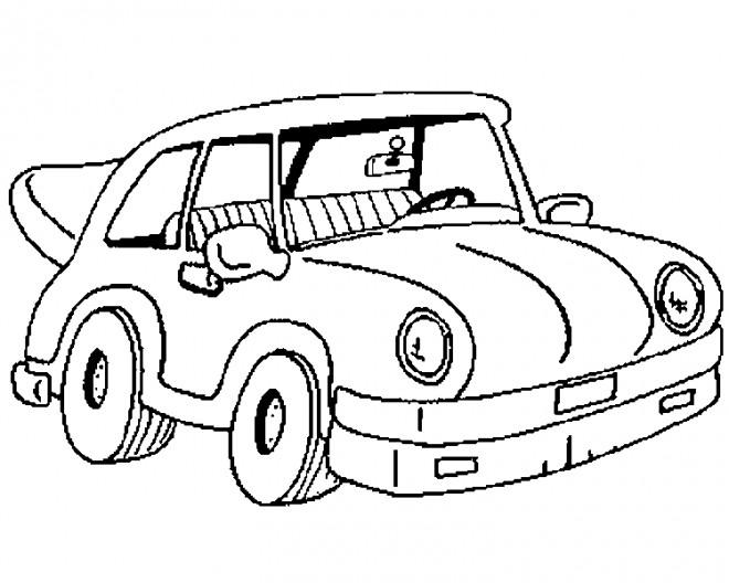 Coloriage et dessins gratuits Voiture Tuning à découper à imprimer