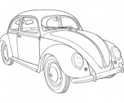 Coloriage Ancien Automobile coccinelle