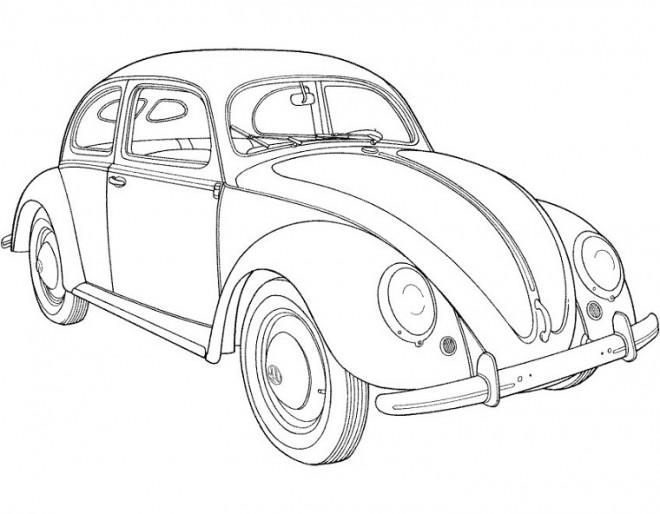 Coloriage et dessins gratuits Ancien Automobile coccinelle à imprimer