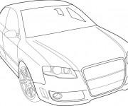 Coloriage et dessins gratuit Audi vecteur à imprimer
