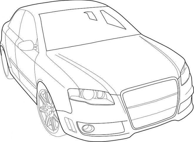 Coloriage et dessins gratuits Audi vecteur à imprimer