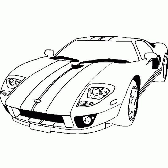 Coloriage et dessins gratuits Auto de course 3 à imprimer