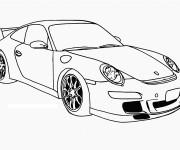 Coloriage et dessins gratuit Auto de course Porsche Panamera à imprimer