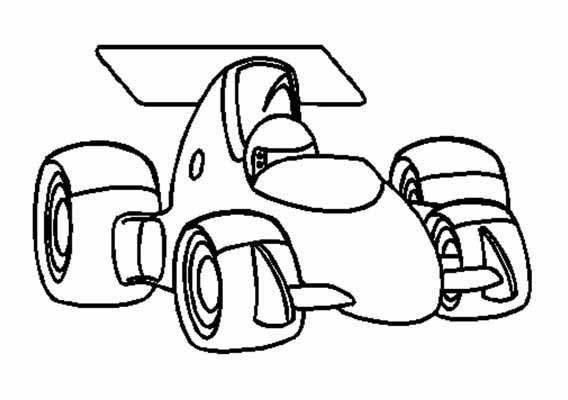 Coloriage et dessins gratuits Auto Formule 1 à imprimer