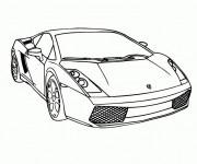 Coloriage et dessins gratuit Auto Lamborghini de Luxe à imprimer