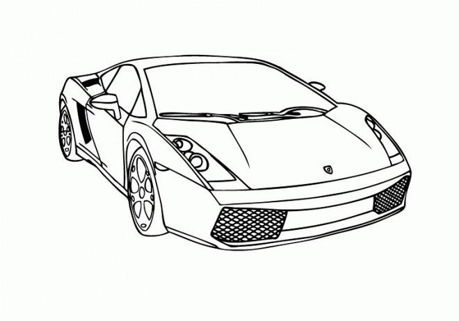 Coloriage et dessins gratuits Auto Lamborghini de Luxe à imprimer