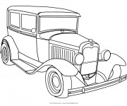 Coloriage Automobile Ford ancien