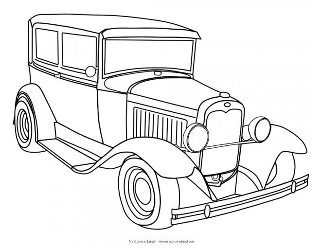 Coloriage et dessins gratuits Automobile Ford ancien à imprimer