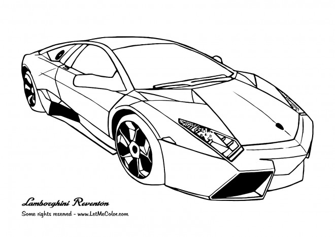 Coloriage et dessins gratuits Automobile Lamborghini Reventon à imprimer
