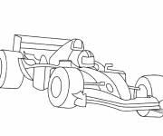 Coloriage Dessin voiture de course F1