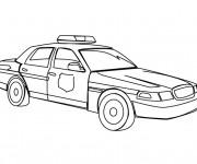 Coloriage et dessins gratuit La voiture de police américaine à imprimer