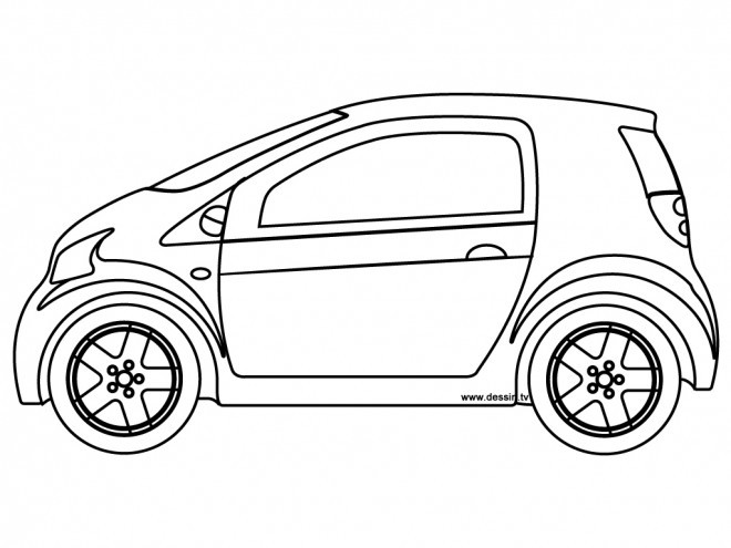 Coloriage et dessins gratuits Petite Voiture Chrysler à imprimer