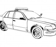 Coloriage Un Auto de police