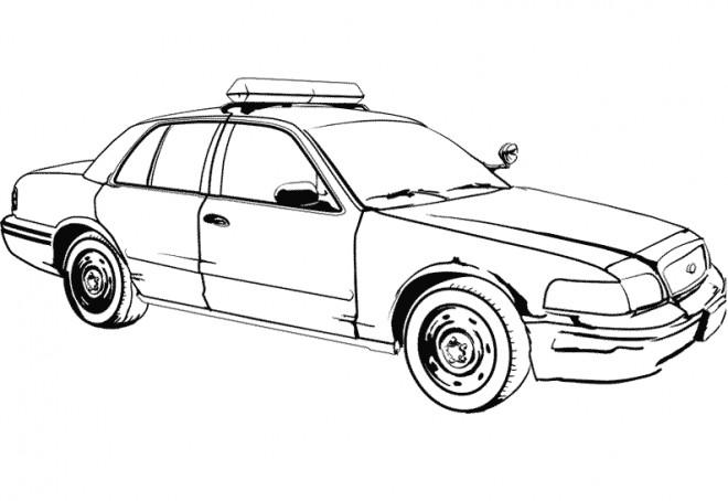 Coloriage Un Auto De Police Dessin Gratuit A Imprimer
