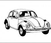 Coloriage et dessins gratuit Une voiture classique à imprimer