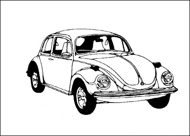 Coloriage et dessins gratuits Une voiture classique à imprimer