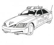 Coloriage et dessins gratuit Une voiture de police moderne à imprimer