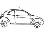 Coloriage et dessins gratuit Voiture à deux portes Ford à imprimer