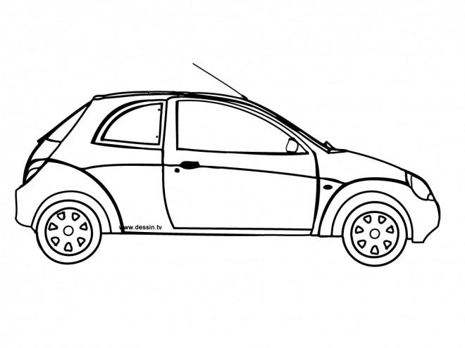 Coloriage voiture deux portes ford dessin gratuit imprimer - Dessin a colorier de voiture ...