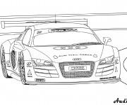 Coloriage et dessins gratuit Voiture Audi R8 à imprimer