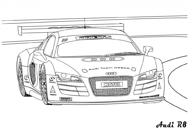 Coloriage et dessins gratuits Voiture Audi R8 à imprimer