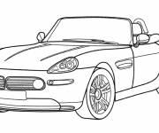 Coloriage Voiture BMW cabriolet à colorier