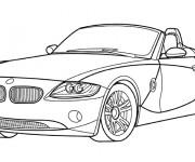 Coloriage et dessins gratuit Voiture BMW décapotable à imprimer
