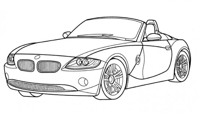 Coloriage et dessins gratuits Voiture BMW décapotable à imprimer