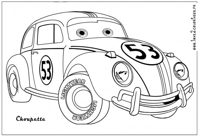 Coloriage et dessins gratuits Voiture choupette jouet à imprimer