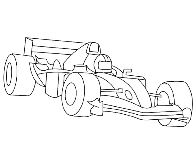 coloriage voiture de course f1 dessin gratuit  u00e0 imprimer