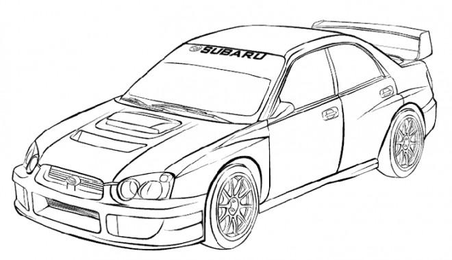 Coloriage et dessins gratuits Voiture de course stylisé à imprimer